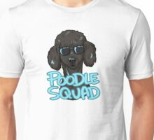 BLACK POODLE SQUAD (in blue) Unisex T-Shirt