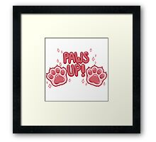 Paws Up! (pink) Framed Print