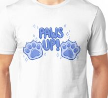 Paws Up! (blue) Unisex T-Shirt