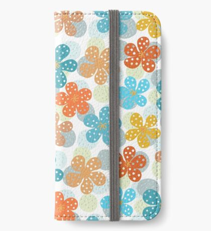 Vibrant Floral Pattern iPhone Wallet/Case/Skin