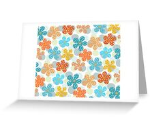 Vibrant Floral Pattern Greeting Card