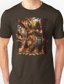 Time Traveller lost in china town art painting T-Shirt