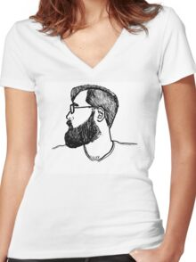 Portrait Two (Years Later) Women's Fitted V-Neck T-Shirt