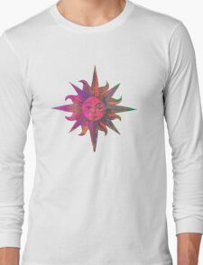 Pink Sun Long Sleeve T-Shirt