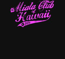 Miata Club of Hawaii Wahine Distressed Pink Print Women's Fitted V-Neck T-Shirt