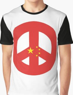 Chinese Peace Symbol Graphic T-Shirt