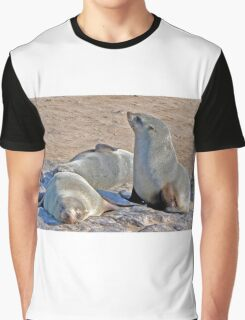Cape Cross Fur Seals. Graphic T-Shirt