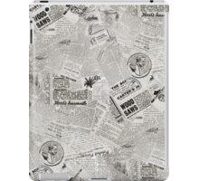 Antique Newspaper Collage iPad Case/Skin