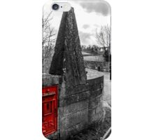 Red British Post Office Post Box iPhone Case/Skin