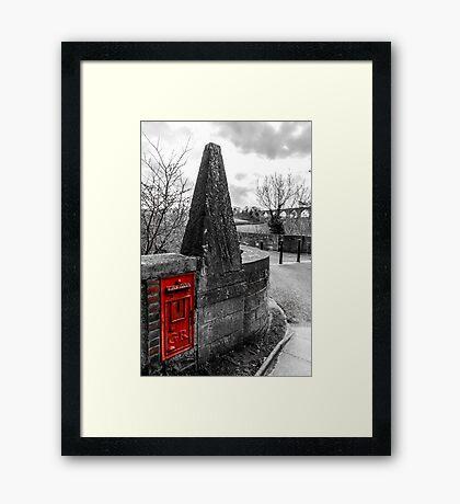 Red British Post Office Post Box Framed Print