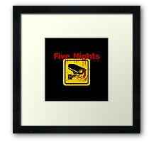 Five Nights Security Framed Print
