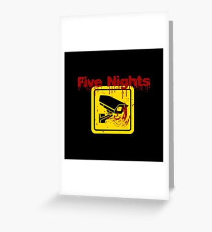 Five Nights Security Greeting Card