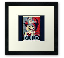 BUILD Framed Print