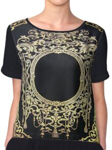 Ornate Gold Frame Book Cover Chiffon Top
