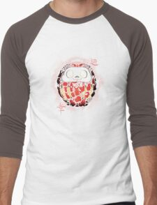 daruma poke Men's Baseball ¾ T-Shirt