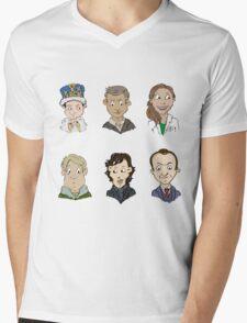 bbc sherlock cast Mens V-Neck T-Shirt