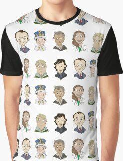 bbc sherlock cast Graphic T-Shirt