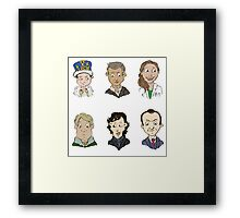 bbc sherlock cast Framed Print