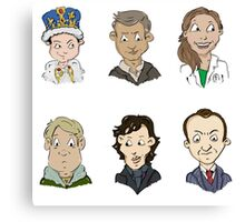 bbc sherlock cast Canvas Print