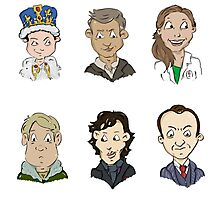 bbc sherlock cast Photographic Print