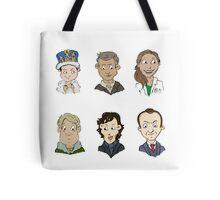 bbc sherlock cast Tote Bag