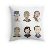 bbc sherlock cast Throw Pillow