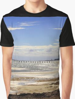 A Quiet Day at the Beach Graphic T-Shirt