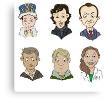 Sherlock Holmes cast Canvas Print