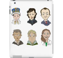 Sherlock Holmes cast iPad Case/Skin