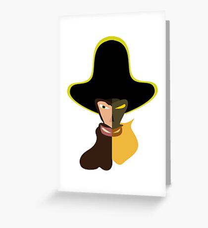 LeChuck Human vs Undead Greeting Card
