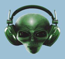 Alien Headphones One Piece - Short Sleeve
