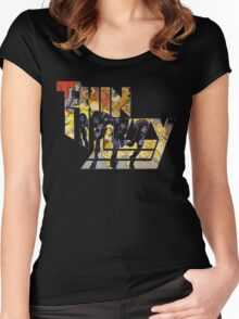 TIN LIZZY JAILBREAK Women's Fitted Scoop T-Shirt