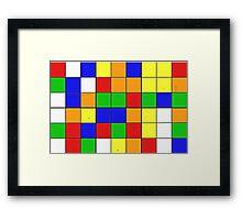 rubik cube texture Framed Print