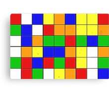 rubik cube texture Canvas Print