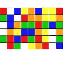 rubik cube texture Photographic Print