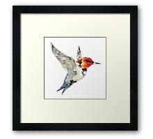 Colorful Hummingbird Mosaic Framed Print