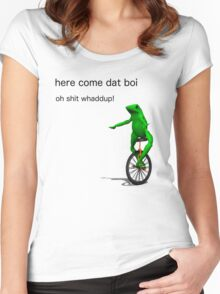 here come dat boi oh shit whaddup! Women's Fitted Scoop T-Shirt