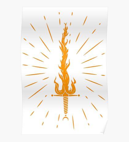 fire sword Poster