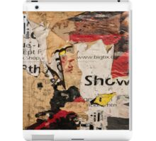 Poster Torn Ripped grunge Music iPad Case/Skin