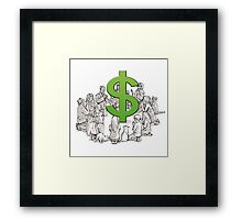 the worship of dollar Framed Print