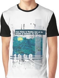 """Monkey Island's: """"From Mêlée to Monkey and all the islands in between, my love..."""" Graphic T-Shirt"""