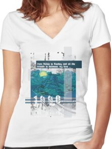 """Monkey Island's: """"From Mêlée to Monkey and all the islands in between, my love..."""" Women's Fitted V-Neck T-Shirt"""
