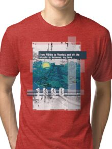 "Monkey Island's: ""From Mêlée to Monkey and all the islands in between, my love..."" Tri-blend T-Shirt"