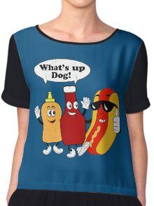 What's Up Dog Chiffon Top