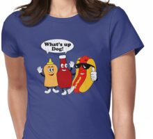 What's Up Dog Womens Fitted T-Shirt