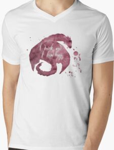 I Drink And I Know Things- Wine and Dragons Mens V-Neck T-Shirt