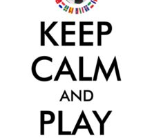 KEEP CALM and PLAY SOCCER 2016 FRANCE Sticker