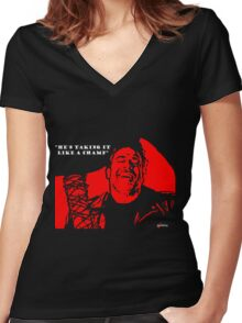 """Negan """"Taking it like a champ"""" Women's Fitted V-Neck T-Shirt"""
