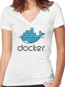 Docker 02 Women's Fitted V-Neck T-Shirt
