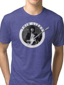 THIN LIZZY PHIL LYNOTT (WHITE) Tri-blend T-Shirt